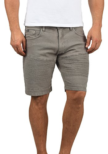 Stretch-golf (Redefined Rebel Matisse Herren Jeans Shorts Bikershorts Kurze Denim Hose Aus Stretch-Material Slim Fit, Größe:L, Farbe:Mid Grey)