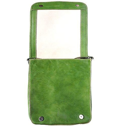 Cartable Porte-document Serviètte avec bandoulière 6516 Vert