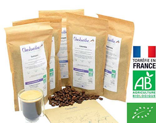 CAFE GRAIN 1kg BIO - Coffret dég...