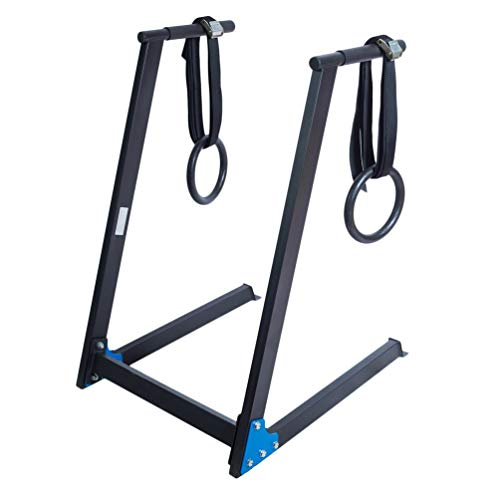 Pull Up Bar Klimmzugstange Wandmontage Multigriff Klimmzug Dip Station mit Gym Ringe Gymnastikringe Fitness Training