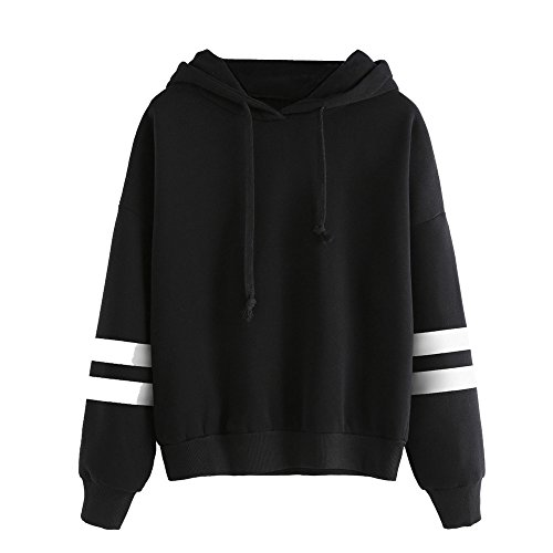 Xinan Damen Hoodie Christmas Langarm Sweatshirt Pullover Bluse (S, Schwarz) (Schwarze Skinny Jeans Größe 12)