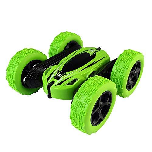 MEILA Drahtlose Fernbedienung Auto SUV Toy Boy Lade Dump Truck Stunt Rolling Kind 3-6 Jahre alt Flip Stunt (Color : Green) -