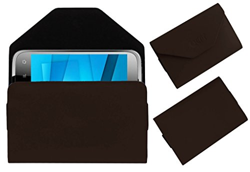 Acm Premium Pouch Case For Karbonn Smart A15 Flip Flap Cover Holder Brown  available at amazon for Rs.179