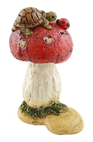 Top Collection Miniatur-Fairy Garden und Terrarium Mini Schildkröte auf Pilz Statue
