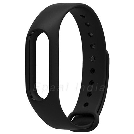 Epaal Wristband Strap for Xiaomi Mi Band 2 and Mi Band HRX Edition with Adjustable Buckle (Black)