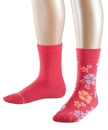 ESPRIT Mädchen Socken Bloom, 2er Pack, Mehrfarbig (Cherry Pink 8536), 35-38 (Blumen-mädchen-socken)