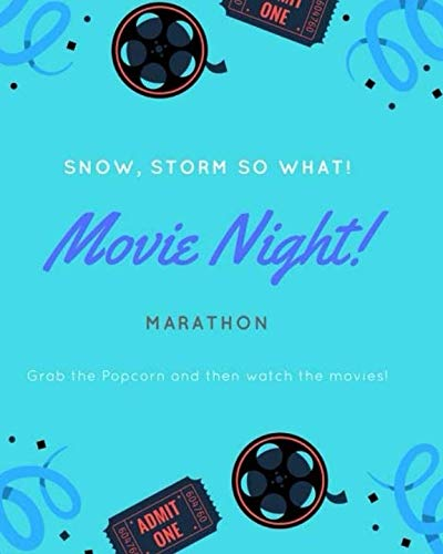 Movie Night Marathon Log Book: Grab the Popcorn and Watch The Movies, Movie Review Logbook for Film Lover