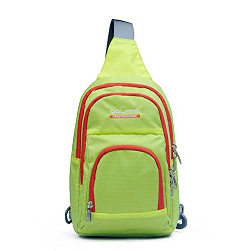 Outdoor peak Unisex Nylon wasserabweisend Multifunktions-Tasche Messenger Bag Gürteltasche Bauchtasche Fahrrad weich Reisetasche Sportrucksack Camping Grün2