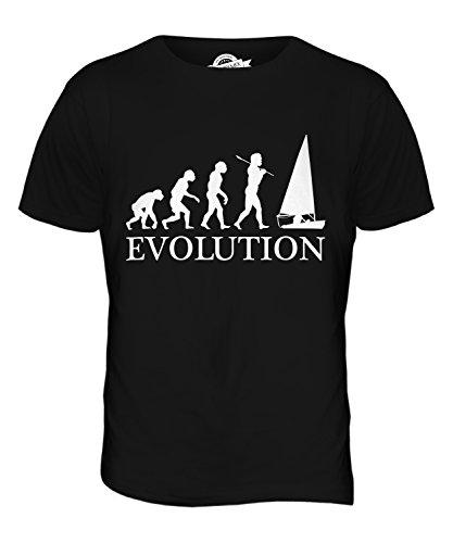 CandyMix Regattasegeln Segeln Evolution Des Menschen Herren T Shirt, Größe 4X-Large, Farbe Schwarz