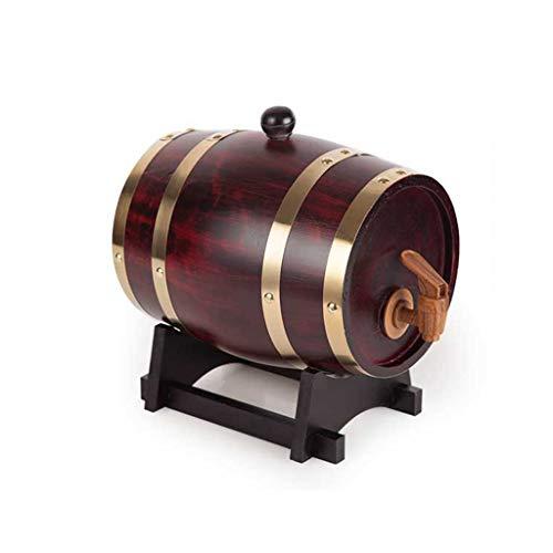 HQCC Barriles de Roble, Almacenamiento doméstico de Vino/Cerveza, dispensador de Madera a Granel con Grifo, (marrón) 5 litros (Color : Brown)