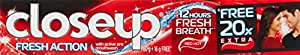 Closeup Fresh Action Red Hot gmel Toothpaste - 80gm (20% Extra)