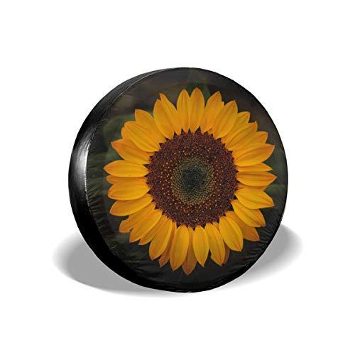 INYANIDI Ersatzreifen Abdeckung Sonnenblume Universal Sonnenschutz Staubdicht Korrosionsschutz Radabdeckungen für Jeep RV SUV (14, 15, 16, 17 Zoll), Sunflower 2, 15 inch for Wheel Diameter 27