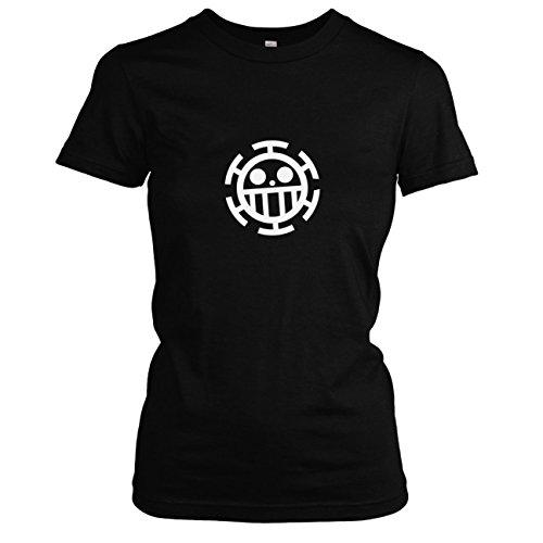 TEXLAB - Heart Piraten - Damen T-Shirt, Größe L, (Fun Unlimited Kostüme)