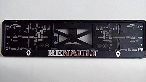 Renault chrome 3D Effect License Number Plate Holder