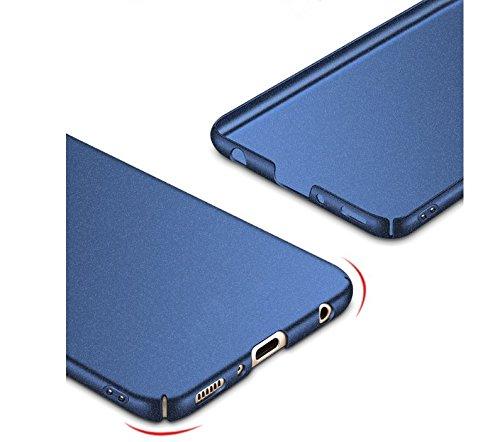 Vanki Case per Huawei P10 Plus, Ultra Sottile Leggero Anti-graffi Difficile Cover Protettiva Rigida di PC Shock-assorbente Anti-Scivolo per Huawei p10 plus (Huawei P10 Plus, Matte Nero) Matte Blu