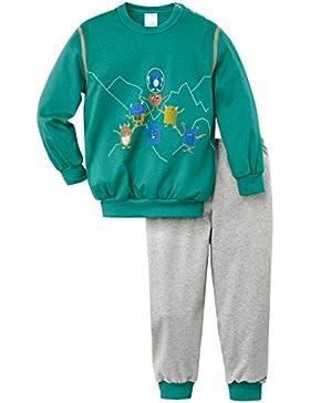 Calida Jungen Zweiteiliger Schlafanzug Pyjama Bündchen Funny Monsters