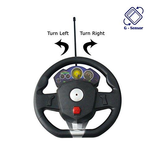 Aroha Toys Aroha Toys 1:16 Scale Gravity Sensor Remote Control Car with Steering Black