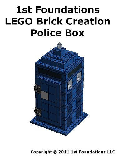 1st Foundations LEGO Brick Creations - Instructions set for a Police Box (English Edition) (Doctor Set Lego Who)
