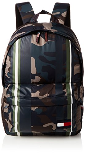 Tommy Hilfiger Herren Light Nylon Backpack Camo Stripe Rucksack, Grün (Camo Stripe), 17x47x34 cm (Camo Tommy)