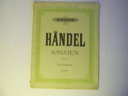 Händel, Sonaten Nr. 4-7, Flöte und Klavier - Edition Peters Nr. 2018b (Für Sonaten Vier Und Klavier Flöte)