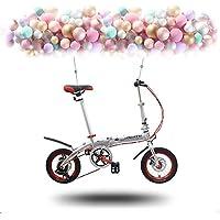LETFF Bicicleta Plegable para Adultos De 14 Pulgadas, Aleación De Aluminio, Scooter Conveniente para