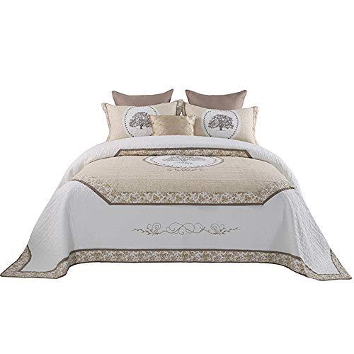 3 Stück BedVerbreitung Coverlet Sets Reversible Patchwork Bedding Quilt Set mit 2 Matching Pillow Shams Leichtgewicht Floral Pattern Oversized Quilted Comforter Set,Queen