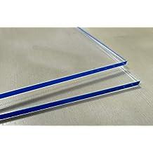 Placa Metacrilato transparente 5 mm - Tamaño 100 x 50 cm - Plancha de Metacrilato traslucido