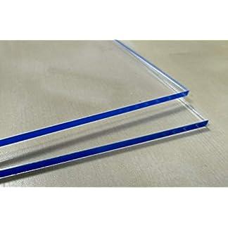 1,0 mm hoja de policarbonato Makrolon mesa de tama/ño 1250 x 680 mm transl/úcido//transparente