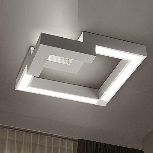 24W LED Deckenleuchten Iron Frame Plus Acryl Sterne Linien Lampe Deckenlampe zum Schlafzimmer, Wohnzimmer, Flur, Balkon und Lagerraum 400mm x 400mm