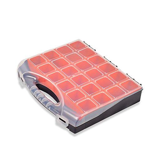 HSM Sortimentskasten 270 x300x55 mm Kunststoff Schraubenbox Sortierkasten Organizer Kleineteilemagazin