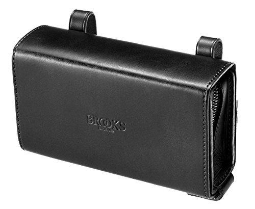 Handtasche Tasche unter Sattel BROOKS D-Shaped Leder ideal Fahrrad Vintage Schwarz