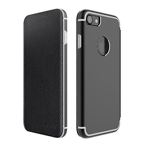 iPhone 7 TPU Case Crystal Clear Premium Cover Soft Transparent Protezzione Estremamente Sottile Nero