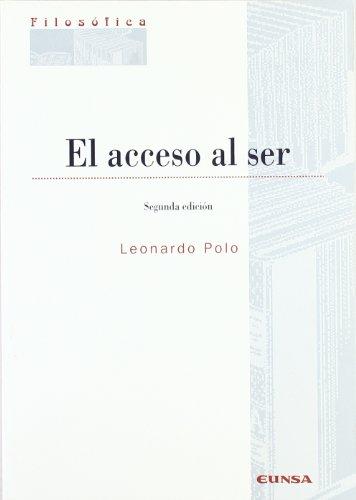 El acceso al ser (Colección filosófica)