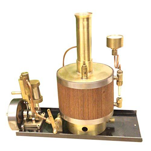 K9CK Dampfmaschine Bausatz, Dampfmaschine Modell Kit mit Boiler und Base Physik Spielzeug für Kinder und Erwachsene, Gold