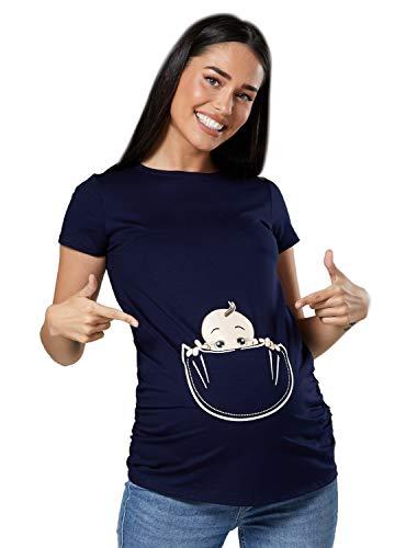 Zeta Ville - Shirt Camiseta Premamá Estampado bebé