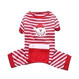 Zgywmz Weihnachtshundekleidung-Haustier Nachtwäsche Cat Pyjamas Snowman Winter-Outfit Weihnachten Mantel Overall (Size : M)