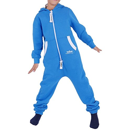 Kinder Jumpsuit Jungen Mädchen Overall Blau Gr. 122-128 (Mädchen Kostüm Für Jungs)