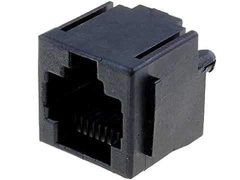 RJ45GP-AMP Socket RJ45 PIN8 with panel stop blockade Pin layout8p8c 520259-4