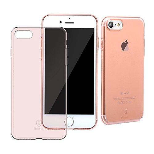 Baseus Multi Protective Series - Handyhülle aus TPU / Case / Softcase Ultra-Dünn / Super Slim / Schutzhülle für Apple iPhone 7 (Schwarz) Pink Rosa