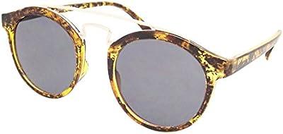 CHIC de Net gafas de sol redondo Vintage 400UV metal doble puente Golden John Lennon Style