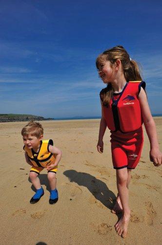 Kinder-Schwimmweste aus Neopren, Rot/Gelb Red/Yellow, Konfidence Jacket Größe 4-5 Jahre: 16-21 kg, Brustumfang ca. 61 cm -