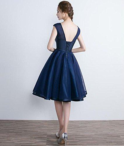 Drasawee - Robe - Trapèze - Femme Bleu Marine