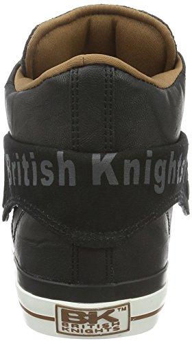 British KnightsROCO - Scarpe da Ginnastica Basse Uomo Multicolore (Mehrfarbig (Black/Dk Grey/Cognac 03))