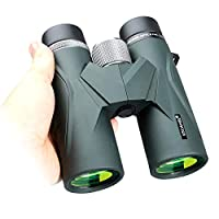 USCAMEL 8x42 Binoculars for Adults, Compact HD Professional Binoculars for Bird Watching, Travel, Stargazing, Camping, Concerts, Sightseeing Army Green
