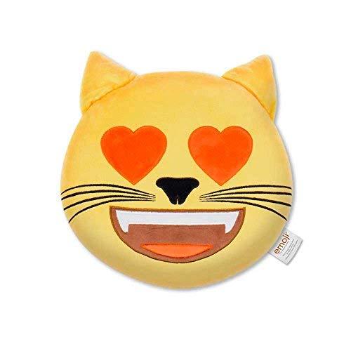Emoji Cojín Bordado Gato Corazón Oficial (PIW_Heart_Eyes_Cat_EB)