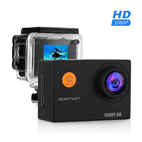 APEMAN-Sports-Action-Camera-Action-Cam-Waterproof-30m-1080P-12MP-Full-HD-170-Ultra-Wide-Angle-Lens-With-Mounting-Accessories-Kit-for-Cycling-Swimming-Climbing