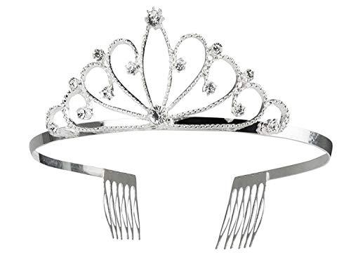 Boland 64554 Haarreif mit Krone Royal Queen, Silber (Kostüm Royal Queen)