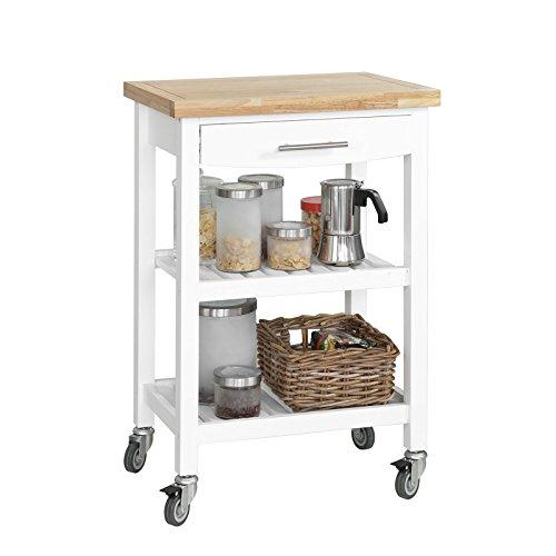 SoBuy® Carrello Scaffale, Carrello di servizio,mobile cucina ...