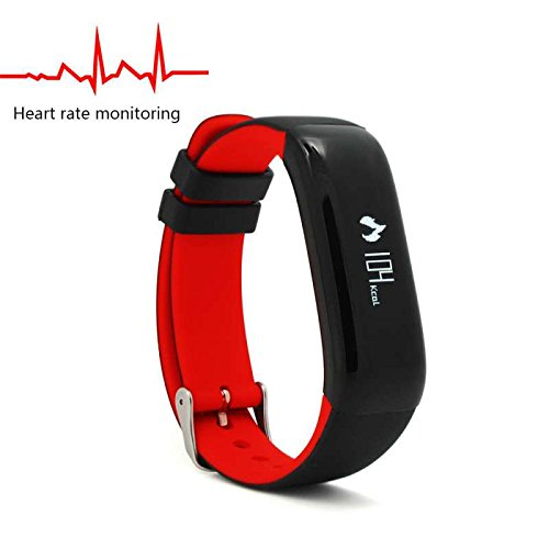 Fitness Tracker, Fitness Armbanduhr HR Pulsuhr Schrittzähler Aktivitätstracker Schrittzähler Armbanduhr Schlafanalyse Kalorienzähler Anruf/ SMS Intelligente uhr,Ringing Erinnerung,Aktivitätstracker für Android und IOS
