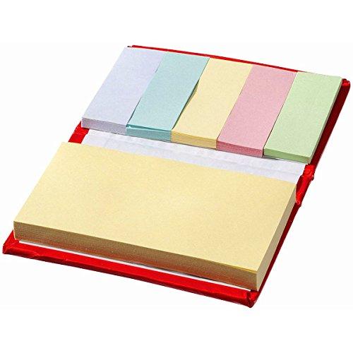 Libretto con 70 Foglietti Adesivi Grandi Memo Stickers Piccolo Notebook Block Notes Tascabile Colorato con Copertina Agenda Appunti Scuola Università Blocco Note Gadget (Rosso)